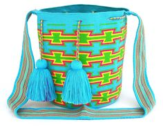 MOCHILA WAYUU LARGE SIZE CROSSBODY BAG TIGHT 1/2 STITCH CROCHET HANDMADE $162.00