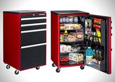 toolbox garage fridge
