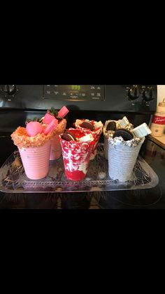 for more popping pins add I Love Food, Good Food, Yummy Food, Yummy Drinks, Delicious Desserts, Edible Cups, Snack Recipes, Dessert Recipes, Snacks