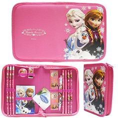 Disney Frozen Hot Pink Elsa Anna and Olaf Stationery Set Pack with Case Pcs): These are good quality official licensed Disney Frozen Stationery set with case . It is perfect for gift. Frozen Elsa And Anna, Disney Frozen Elsa, Elsa Anna, Anna Disney, Christmas Gifts For Kids, Kids Gifts, Disney Dinosaur, Frozen Merchandise, Frozen Toys