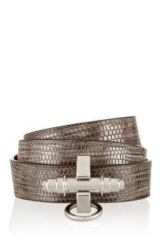 Givenchy | Obsedia bracelet in lizard-print brown leather | NET-A-PORTER.COM