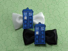 Doctor Who Tardis Hair Bow by LaMuerteDulce on Etsy, $3.50