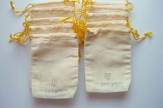 these stamped muslin bags are a perfect way to package them up for your guests as DIY wedding favors    http://www.intimateweddings.com/blog/diy-stamped-favor-bags/
