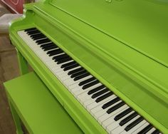 remember when you painted the piano chartreuse? Neon Green, Green Colors, Bright Green, Fresh Green, Color Explosion, Color Verde Claro, Painted Pianos, Green Photo, Aesthetic Colors