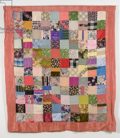 Milieu du 20e siècle patchwork carré couverture, 1950-1960 (textile)