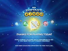 Game Play | PCH Instant BingoLOVE IT