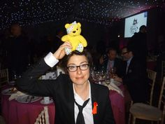 Sue Perkins, Comedian, supports the Paul Strank Roofing Photothon with Pudsey! #cin #pudsey #pudseyphotothon