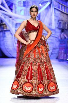 Fashion designer JJ Valaya Collection @ India Bridal Fashion week 2013.