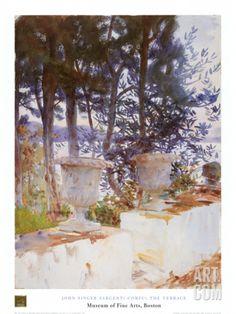Corfu: The Terrace Art Print by John Singer Sargent at Art.com