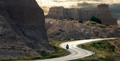 Motorcyclist in Badlands National Park in South Dakota © Ed Freeman/Getty Images
