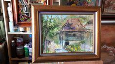 Houses at Salciua de Jos Painting, Art