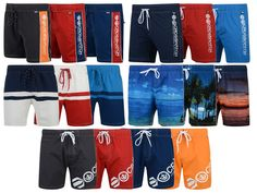 New Mens Crosshatch Board Surface Swim Shorts Summer Beach