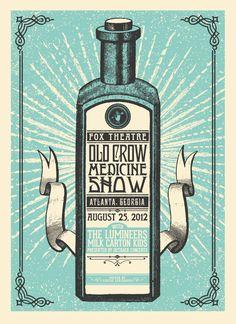 Old Crow Medicine Show Poster  Designed by Justin Helton
