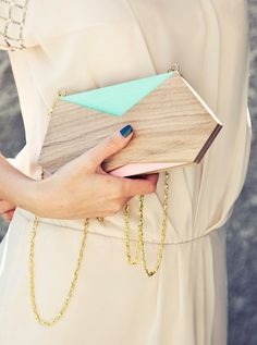 clutch, wood clutch, ECO CLUTCH , clutch bag, evening Clutch, purse, shoulder bag, light coral, turquoise, minimalistic clutch, mint,