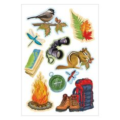 Back Country Camping Dimensional Icon Sticker $4.00