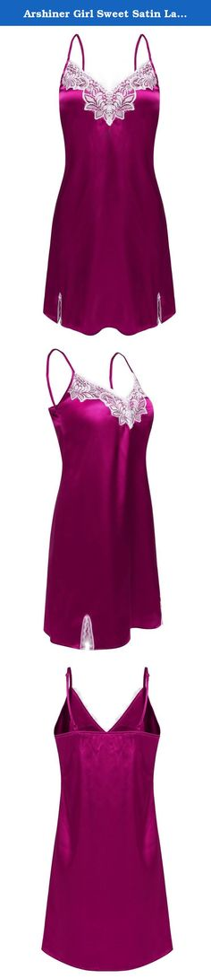 Arshiner Girls Cat Nightgown Long Sleeve Princess Lace Sleepwear Dress