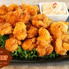 Seafood lovers will flip for these crispy coated Kickin' Fried Shrimp. In warm weather or cool, these fiery shrimp are sure to get the party started. Fried Shrimp Batter, Deep Fried Shrimp, Fried Shrimp Recipes, Breaded Shrimp, Prawn Recipes, Shrimp Dishes, Seafood Recipes, Cooking Recipes, Chicken