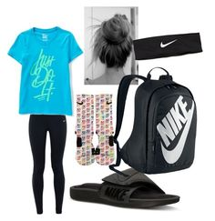 """""""Hang Out"""" by haley-grace-brand on Polyvore featuring NIKE, women's clothing, women, female, woman, misses and juniors"""