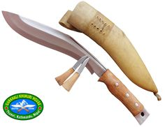 """Genuine Gurkha Aeof Kukri - 11"""" Authentic British Gurkha Afghan Issue Khukuri - Handmade By New Gorkhali Khukuri. It is a very good design of khukuri with high cutting capability, It has a good texture and can be used as gifts or decoratives. 11"""" Blade with 5"""" handle , Overall length 16 Inches, Thickness about 10mm at Spine. Unpolished blade, sharp edge, Full tang rosewood handle, Refine Buffalo leather sheath. Razor Sharp blade, Easy to sharp, Balance water tempered. Since product is in..."""