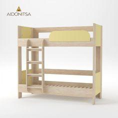 Κρεβάτι Κουκέτα Domino 194.6x97.6x182.5 Φυσικός Δρύς-Κίτρινη μέ Σκάλα και Βάση (τάβλες) Στρωμάτων, Εξαιρετική ποιότητα στιβαρή κατασκευή. Δέχεται στρώματα 80x190 (τα στρώματα δεν περιλαμβάνονται) Από την Alphab2b.gr Yellow Bedding, Double Beds, Bunk Beds, Kids Room, Table, Furniture, Home Decor, Products, Full Beds