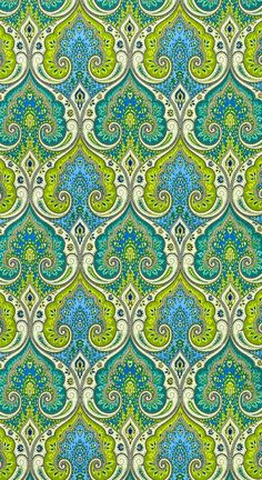 onlinefabricstore.net - blue and green pattern