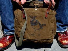 Swiss BIRDY Vintage military bag Meatbagz original by meatbagz, $65.00