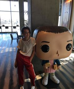 Millie Bobby Brown with Eleven