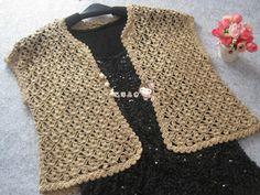 Irish crochet &: CROCHET VEST.