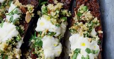 From the Middle East, this chermoula aubergine recipe is baked with warming spices before being finished with bulgar wheat, yoghurt and fragrant coriander.