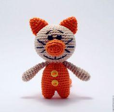 Игрушки животные, ручной работы. Ярмарка Мастеров - ручная работа. Купить Ярко-оранжевый котик. Handmade. Оранжевый, котик