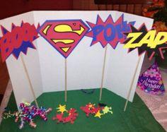 Superhero Boys Centerpiece by Onecraftyhippo on Etsy