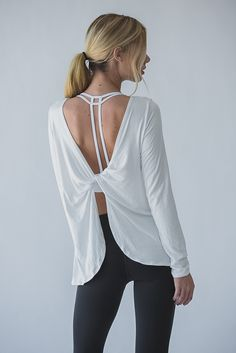 We practically live in our sports bras, but modesty compels us to layer in daily life. The Sophie is an easy, long sleeve that layers perfectly with our entire