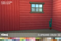 "ohmysims404: "" Horizontal Clapboard • Works with all wall heights • §5, can be found under Siding • Vertical Clapboard recolors are HERE Credits: • Original texture from The Sims 4 Basegame • Color..."