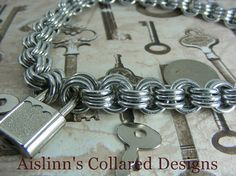 BDSM Gorean Slave Collar 3 in 3 Heavy Duty by aislinnscollared