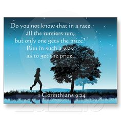 1 Corinthians 9:24 my running motto