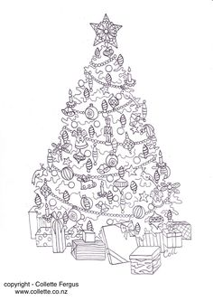FREE Christmas Tree Adult colouring page designed by Collette Renee Fergus get i… – Buchstaben Lernen Colouring Pages, Free Coloring, Adult Coloring, Coloring Books, Christmas Carnival, Xmas, Christmas Tree, Carnival Themes, Christmas Coloring Pages