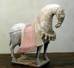 CAPARISONED HORSE    Northen Wei Dynasty (386-535)  H.40cm L.40cm   Oxford test