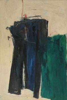 Untitled (1958) by American artist Franz Kline (1910-1962). Oil on canvas, 78.2 x 52 in. source: artnet. via a long time alone