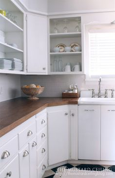 I love these wooden countertops, I'm going to run this by the Hubby later on.