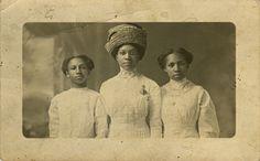 My great aunts. from left to right: Janie B. Sheffey Crockett, Callie Sheffey Turner and Elnore Sheffey Clark all from Wytheville, Wythe Co., VA.