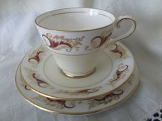 Aynsley tea cup, saucer and plate. Ideal for vintage wedding, tea shop or display by SwallowCAntiques on Etsy