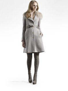 Gucci fur collar cashmere coat -- love it.