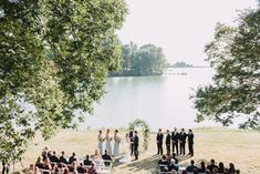 Southern Maryland Wedding, blue bridesmaids, arch, uneven wedding party, outdoor wedding, September wedding