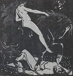Woodcut by Karl Müller, Ver Sacrum, 1903