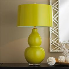 Chartreuse lamp
