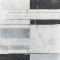 WHITE GREY BLACK MARBE MOSAIC Mosaic Tiles, Wall Tiles, Mosaics, Travertine, Natural Stones, Tile Floor, Flooring, Grey, Glass