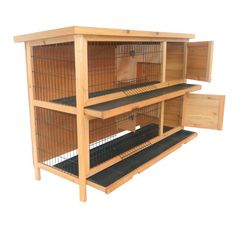 Amazon.com : Pawhut 2-Story Stacked Wooden Outdoor Bunny Rabbit Hutch / Guinea Pig House : Small Animal Houses : Pet Supplies $119.97