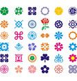 Most beautul flower set icon images vector image
