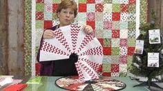 The Easiest Christmas Table Topper / Mini Tree Skirt You'll Ever Make!, via YouTube.