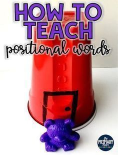 How to Teach Positional Words, Positional Words Posters and activities